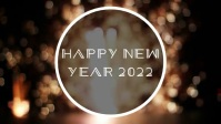 Happy New Year Vidéo de couverture Facebook (16:9) template
