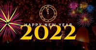 Happy New Year Design Template delt Facebook-billede