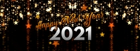Happy New Year Facebook Cover template