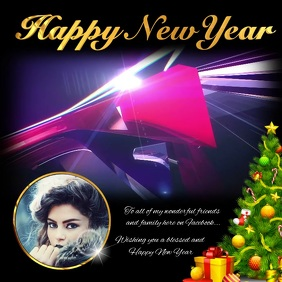 Happy New year Facebook Greeting
