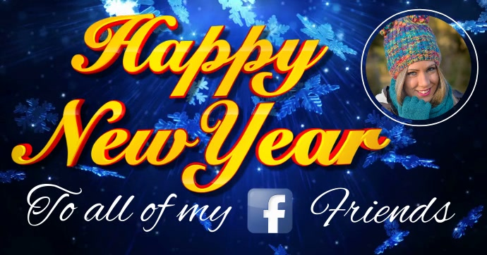 christmas video greeting happy new year facebook post