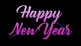 Happy New Year Facebook Post Video Template