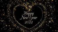Happy New Year Glitter Video Golden Heart