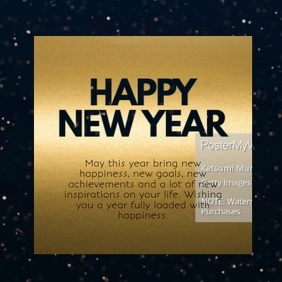 Happy New Year Gold Video Message Wishes glam