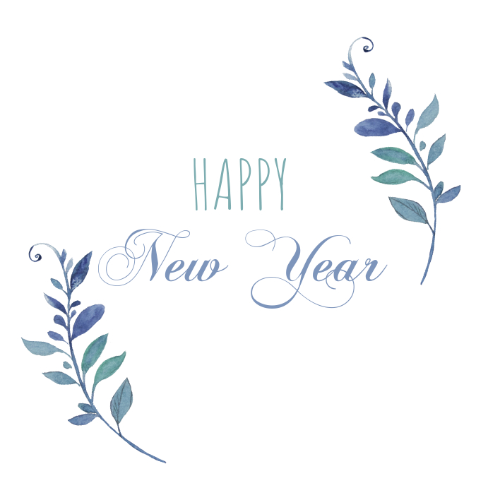 happy new year greeting card customize template