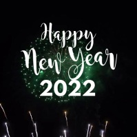 Happy New Year Greeting Card Firework Video