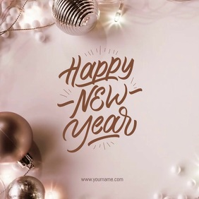 Happy New Year Greeting Card Flyer