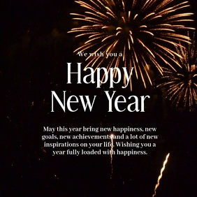 Happy new Year Greeting Card Video Firework