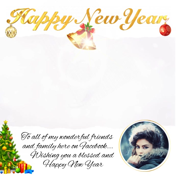 happy new year greeting customize template