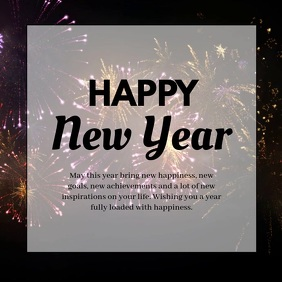 Happy new Year Greeting Message Wish firework