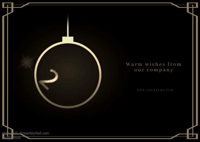Happy New Year Greeting Template Kartu Pos