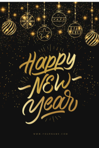 Happy New Year Greeting Template
