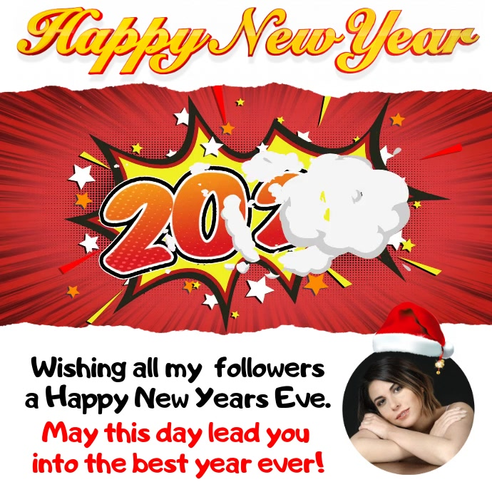 Customizable design templates for happy new year video greeting happy new year greeting video m4hsunfo