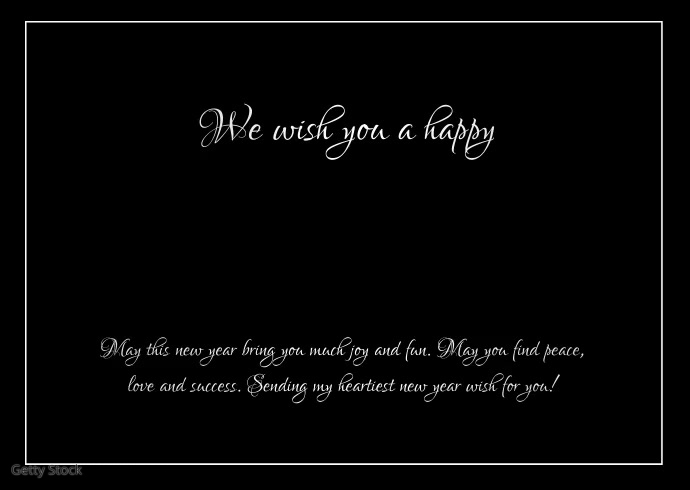 Happy New Year Greeting Video Message Text Ad