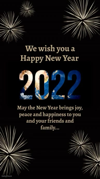 Happy New Year Greeting Video Wishes template