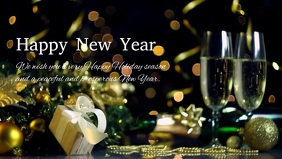 Happy New Year Greetings Company Customers Ad