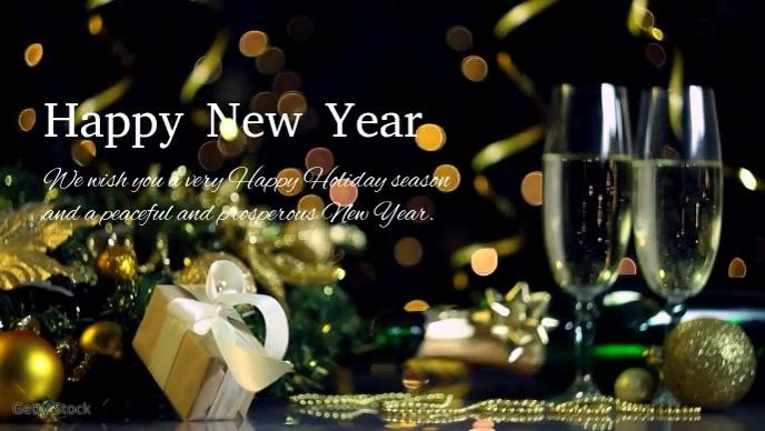 Happy New Year Greetings Company Customers Ad