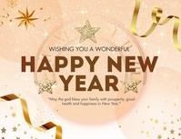 Happy New Year Greetings Pamflet (VSA Brief) template