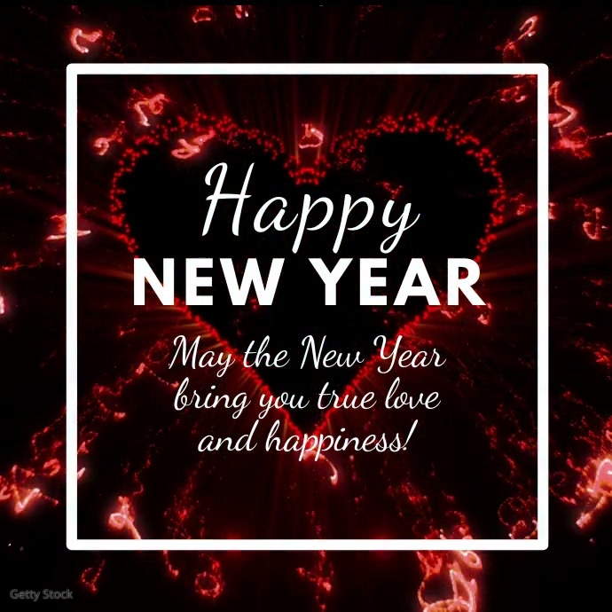 Happy New Year Greetings Message Firework