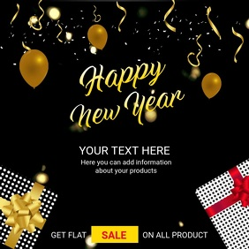 Happy New Year Instagram Post Video Template