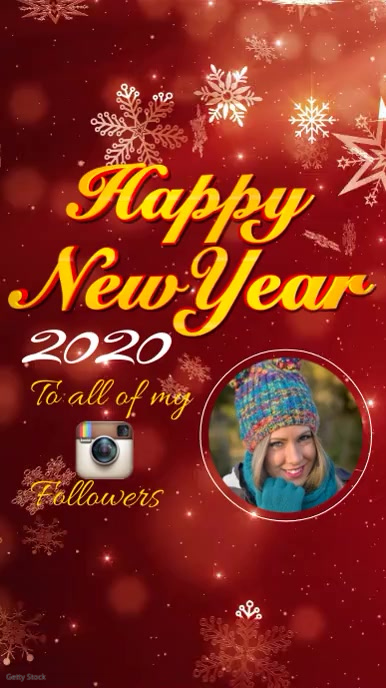 Happy New Year instagram story template