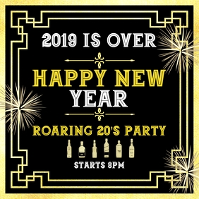 Happy new year party roaring 20's Wpis na Instagrama template
