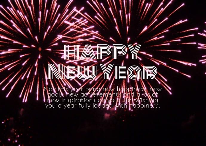 Happy New Year Postcard Online Firework Wish