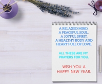 HAPPY NEW YEAR QUOTE TEMPLATE Rettangolo medio