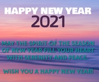 HAPPY NEW YEAR QUOTE TEMPLATE Mittelgroßes Rechteck