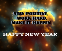 HAPPY NEW YEAR QUOTE TEMPLATE Großes Rechteck