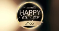 happy new year social media design template Facebook Shared Image