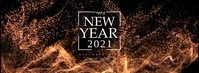 Happy New Year Toast Couverture Facebook template
