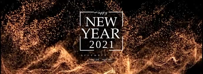 Happy New Year Toast Facebook-coverfoto template