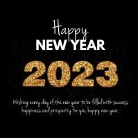 Happy New Year Video Greeting Meessage Golden