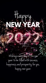 Happy New Year Video Greeting Message Instagram Story template
