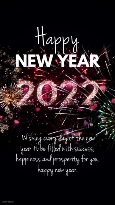 Happy New Year Video Greeting Message template