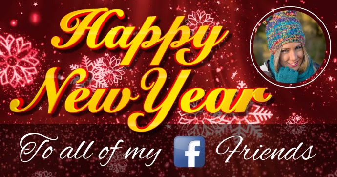 happy new year video greeting customize template