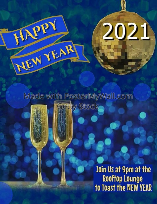 happy new year video flyer customize template