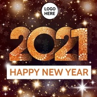 Happy New Year Video Template Square (1:1)