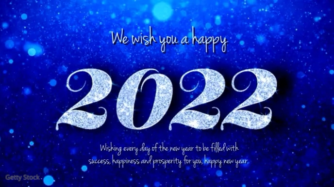 Happy new year video wishes 2020 glam shine Digitalt display (16:9) template