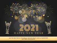 Happy New Year Wish Greeting Card