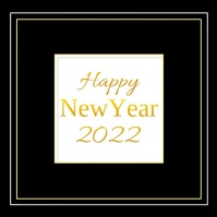 Happy New Year Wishes Card Video Glitter Gold