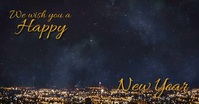 Happy new year wishes Ibinahaging Larawan sa Facebook template