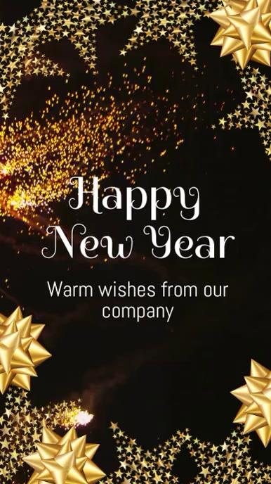 Happy New Year wishes Historia de Instagram template