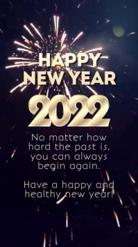 Happy New Year Wishes Glam Firework square Instagram Story template