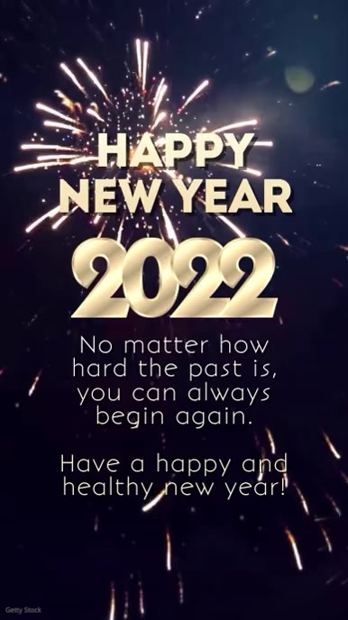 Happy New Year Wishes Glam Firework square Historia de Instagram template