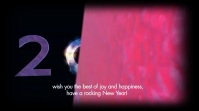 Happy New Year Wishes Greetings Message Video Digital Display (16:9) template