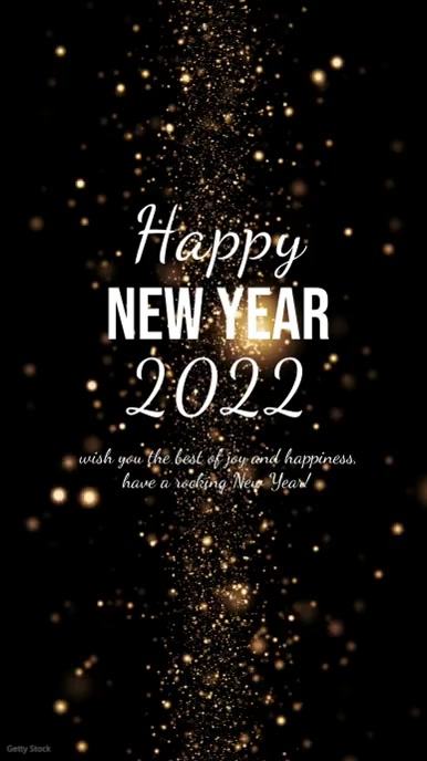 Happy New Year Wishes Greetings Message Video template
