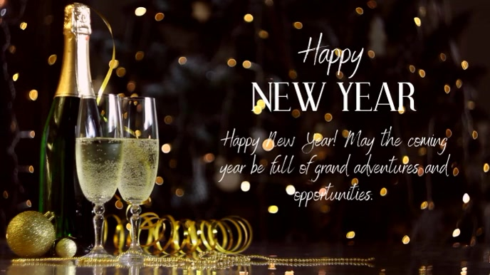 Happy New Year Wishes Greetings Message Video