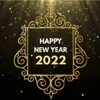 Happy New Year Wishes Greetings Shine gold ad
